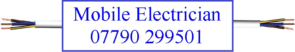 Mobile Electrician Logo Telephone 07790 - 299501